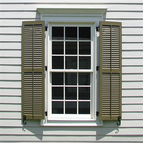 Exterior Wood Shutters Louvered