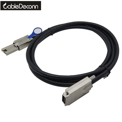 External Infiniband SAS raid data cable 4X SFF-8470 to SFF-8470 1m