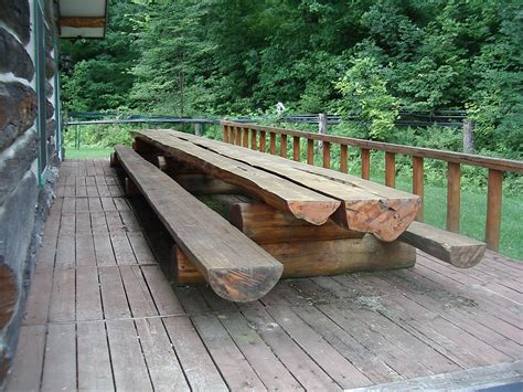 Extra Long Wooden Picnic Table
