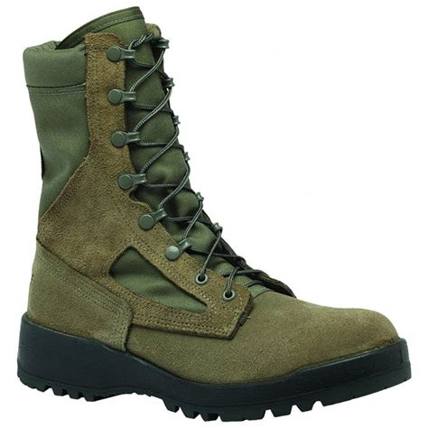 F600ST Women's Hot Weather Steel Toe Green Olive Leather Boots