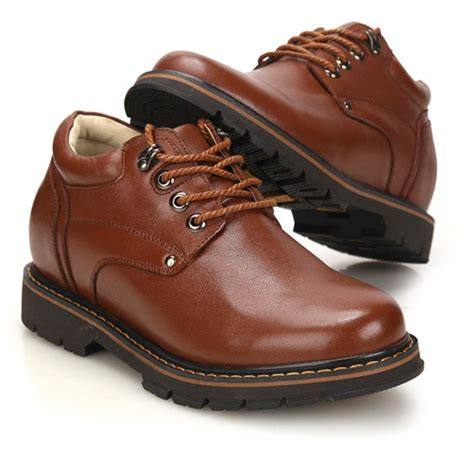 F70272-3.2 Inches Taller - Height Increasing Elevator Shoes-Brown Lace up Casual