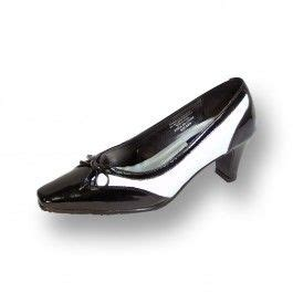 FIC Rachel Women Wide Width Two Tone Black/White Dress Pump (Size & Measurement Guides Available)