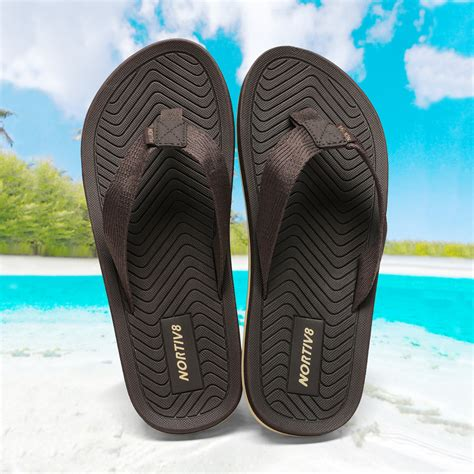FILP Flops for Men Summer Sandals Lightweight Soft Thong Shoes for Outdoor and Indoor