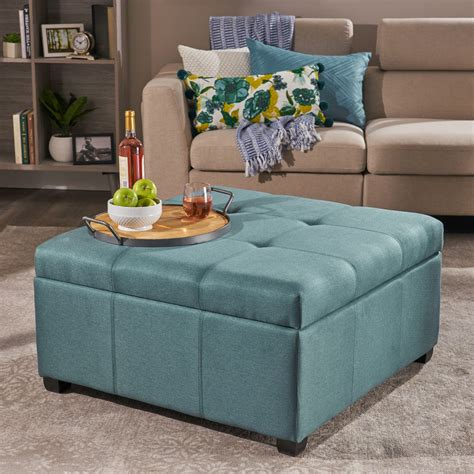 Fabric Coffee Table With Storage