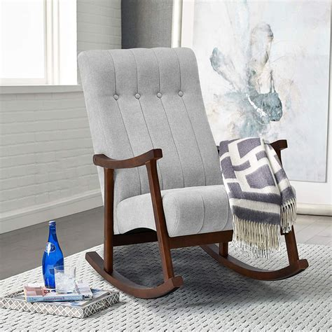 Fabric Rocking Chairs Living Room Furniture