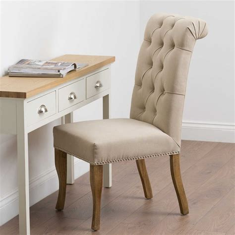 Fabric Roll Top Dining Chairs