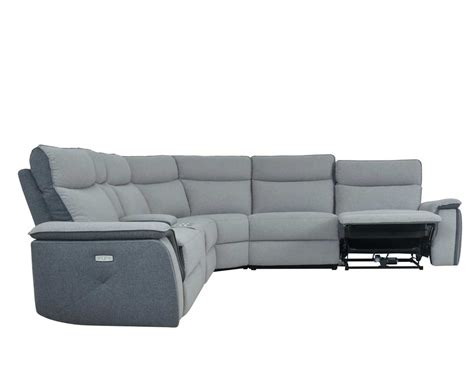 Fabric Sectional Sofa With Power Recliner