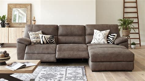 Fabric Sofa With A Recliner And Chaise
