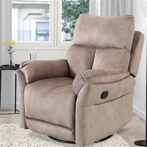 Fabric Swivel Rocker Recliner Chairs