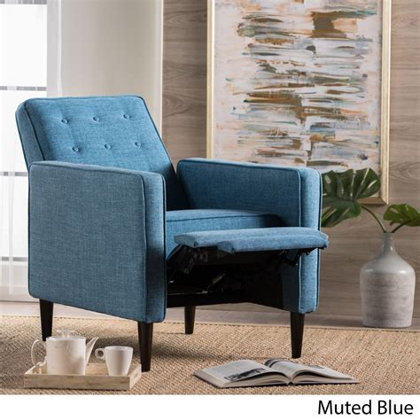 Fabric Tufted Recliner Club Chair
