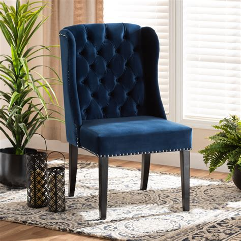 Fabric Wingback Dining Chairs