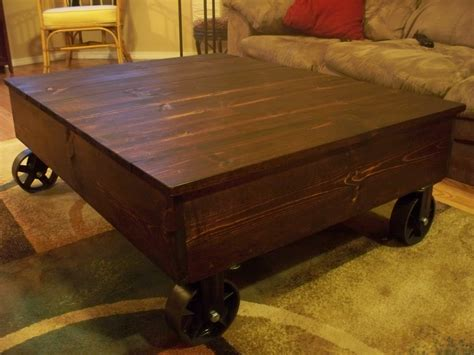 Factory Cart Coffee Table Diy Ideas
