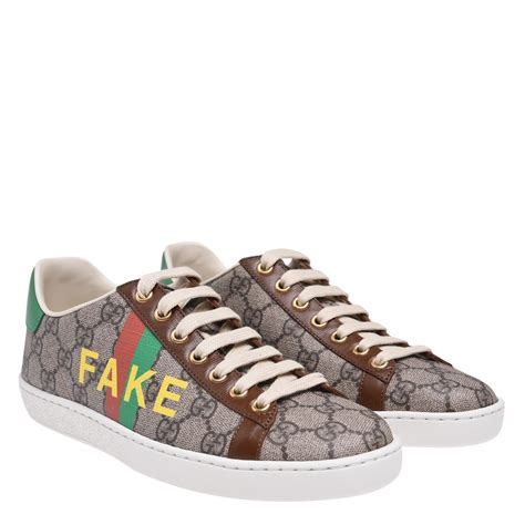 Fake Silver Gucci Sneakers