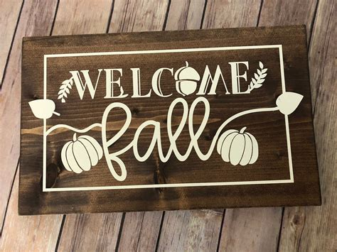 Fall Wood Signs Pinterest
