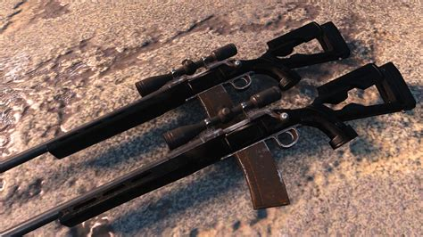 Fallout 4 Black Hunting Rifle And Fortnite Hunting Rifle Bloom