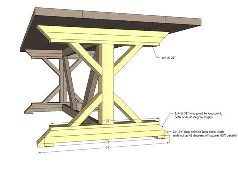 Fancy-X-Table-Plans