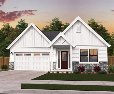 Farm House Plans With Garage One Story