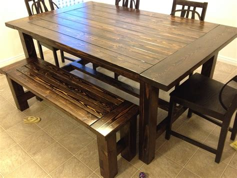 Farm Style Kitchen Table With Bench