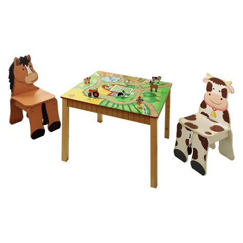 Farm-Animal-Table-And-Chairs