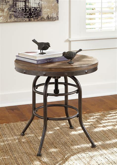 Farm-Style-Round-End-Table