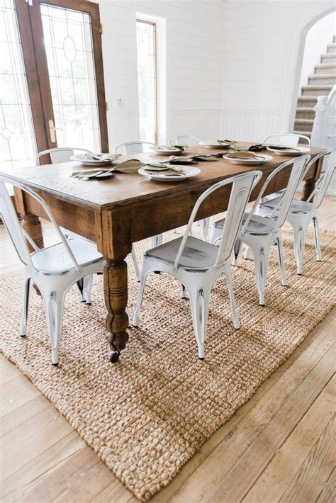 Farm-Table-And-Metal-Chairs