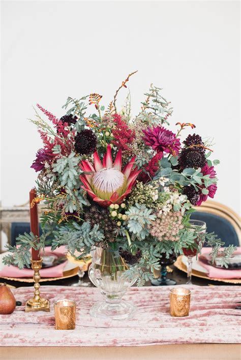Farm-Table-Fuchsia-Orange-Flowers-Centerpieces