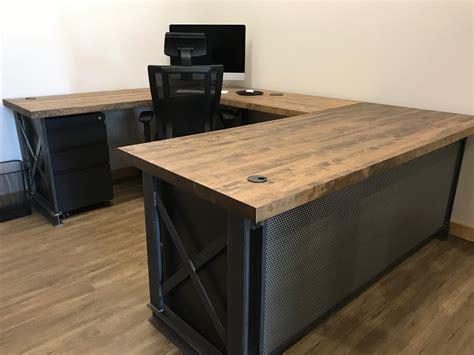 Farm-Table-U-Shaped-Desk