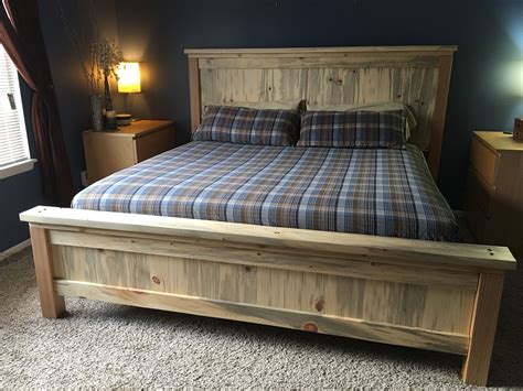 Farmhouse Bed Frame King Diy Bed