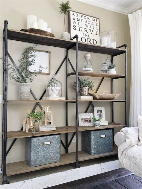 Farmhouse Bookshelf Decor Ideas