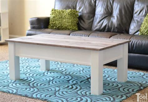 Farmhouse Coffee Table Plans Hidden Storage