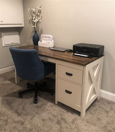 Farmhouse Desk With Drawers Plans