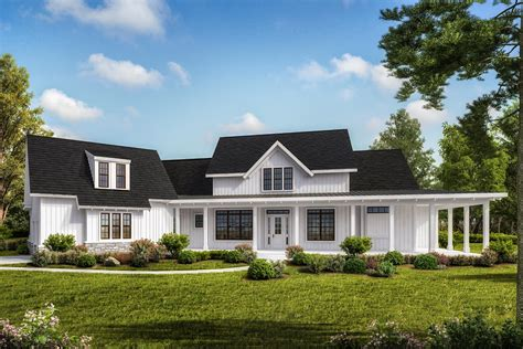 Farmhouse House Plans With One Level