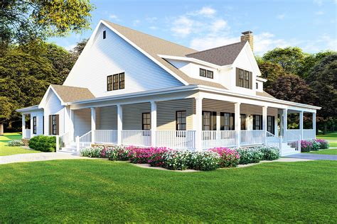 Farmhouse House Plans Wrap Around Porch