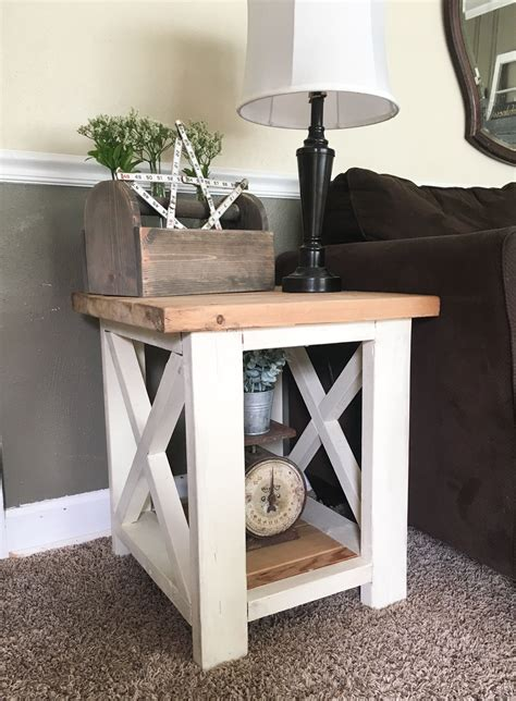 Farmhouse Living Room Side Tables