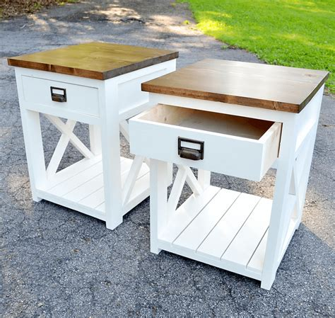 Farmhouse Nightstand Plans Off