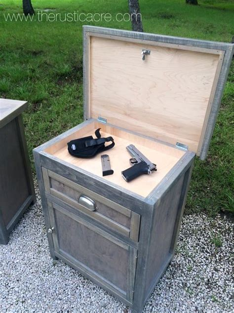 Farmhouse Nightstand Plans With Gun Safe