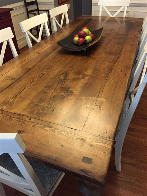 Farmhouse Salvaged Wood Dining Table Plans