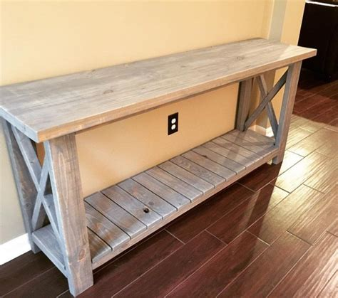 Farmhouse Sofa Table Plans