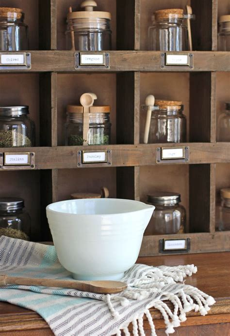 Farmhouse Spice Rack Diy