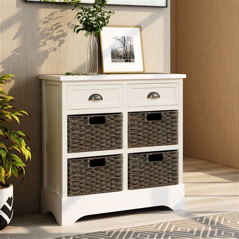 Farmhouse Storage Cabinet With Drawers