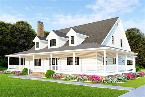 Farmhouse Style House Plans With Porches