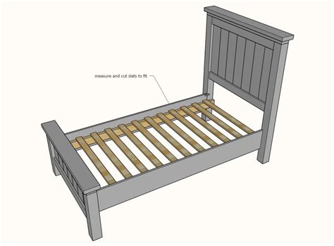 Farmhouse Twin Bed Diy Plans