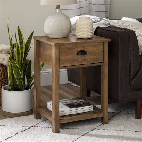 Farmhouse-Accent-Table-With-Drawer