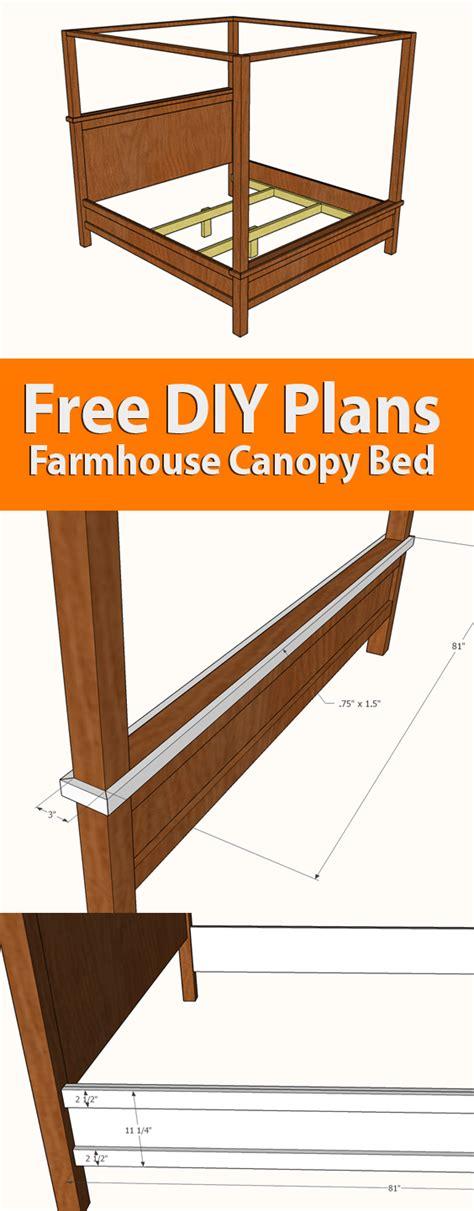 Farmhouse-Canopy-Bed-Plans