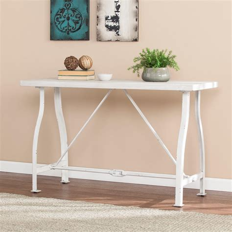 Farmhouse-Console-Table-White
