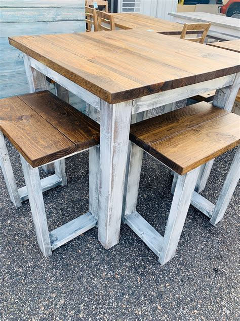 Farmhouse-Counter-Height-Table-Bench-Seat