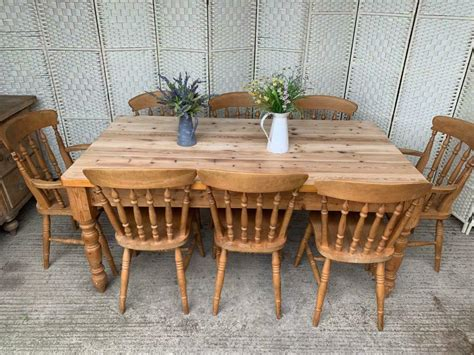 Farmhouse-Dining-Table-And-8-Chairs
