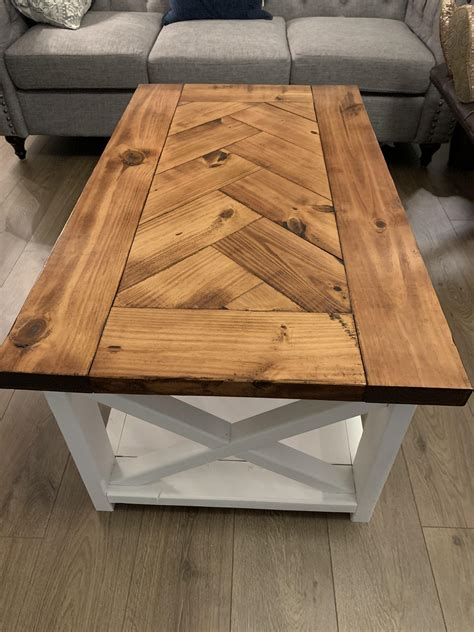 Farmhouse-Herringbone-Coffee-Table