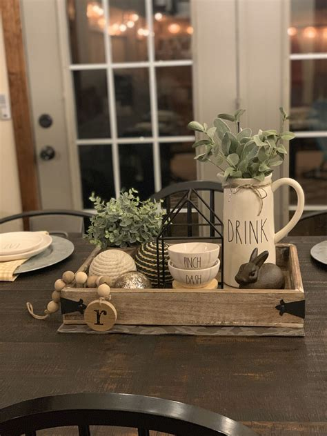 Farmhouse-Kitchen-Table-Centerpiece-With-Tray