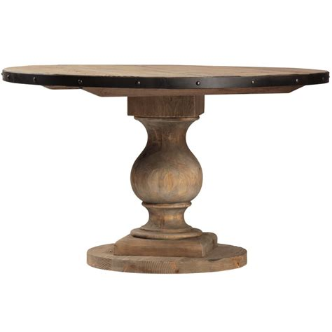 Farmhouse-Round-Pedestal-Dining-Table